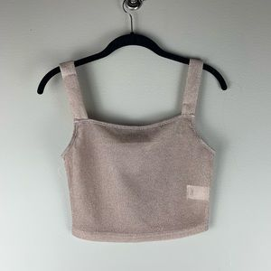 Shein Cropped Rose Gold Sparkle Tank size Medium